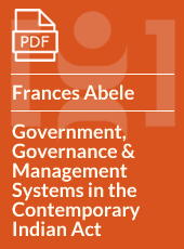 Like An Ill-Fitting Boot: Government, Governance And Management Systems In The Contemporary Indian Act